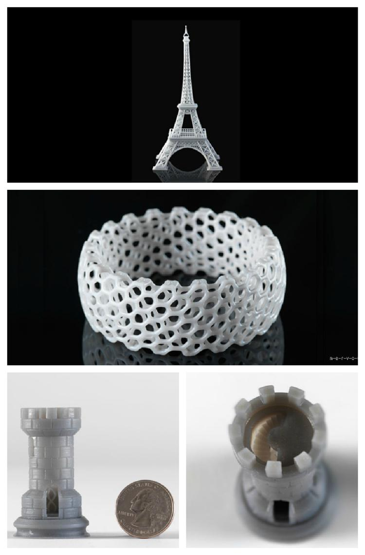 Objects printed by The Form 1